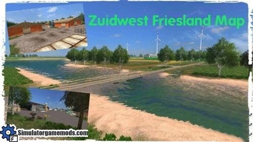 zuidwest-friesland-holland-map