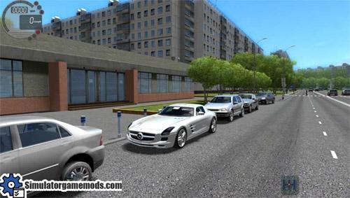 Mercedes benz sls amg city car driving 1 5 1 simulator for Mercedes benz car racing games