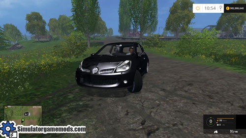 fs 2015 renault clio rs simulator games mods download. Black Bedroom Furniture Sets. Home Design Ideas