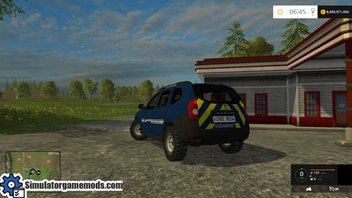 fs 2015 dacia duster gendarmerie car mod simulator games mods download. Black Bedroom Furniture Sets. Home Design Ideas