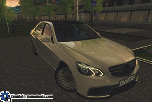 City car driving 1 5 1 mercedes benz brabus w212 car mod for Mercedes benz car racing games