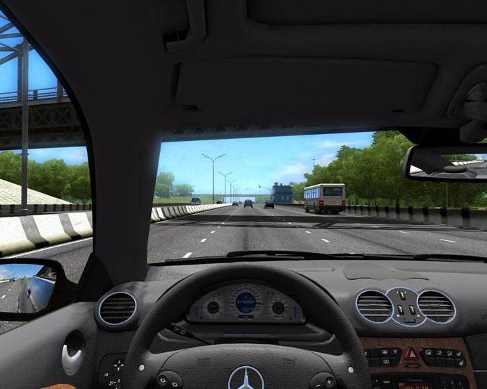 City car driving 1 5 1 mercedes benz clk 55 amg car mod for Mercedes benz car racing games
