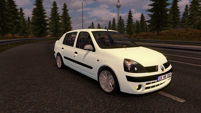 ets 2 renault clio car mod simulator games mods download. Black Bedroom Furniture Sets. Home Design Ideas