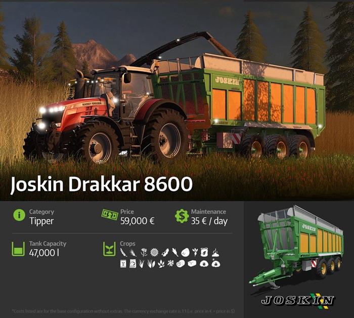 Fs17 Joskin Drakkar 8600 Simulator Games Mods Download