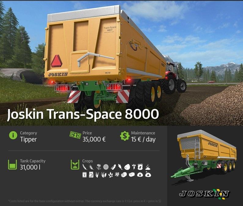 Car Driving Games >> FS17 – Joskin Trans-Space 8000 – Simulator Games Mods Download