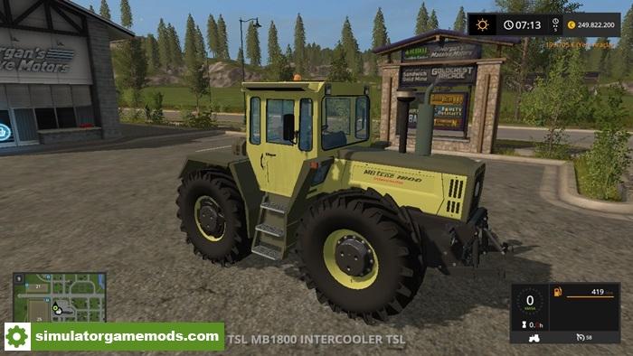 Car Simulator Games >> FS17 – Mercedes-Benz 1800 Intercooler Turbo Tractor – Simulator Games Mods Download