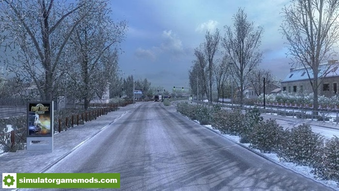ets 2 frosty winter weather mod v6 1 simulator games