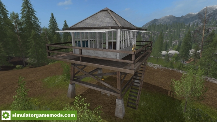 Fs17 lookout tower simulator games mods download for Building a lookout tower