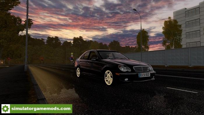 City car driving 1 5 3 mercedes benz c32 amg car mod for Mercedes benz car racing games