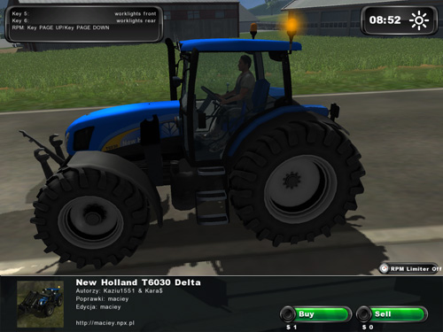 New Holland T6030 New Version