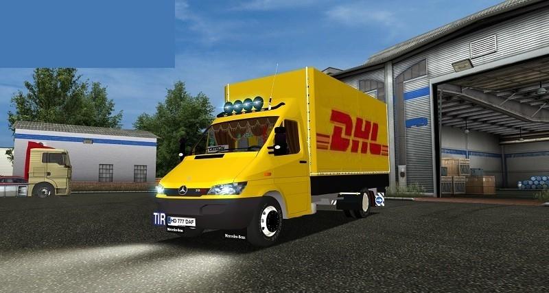 mercedes sprinter dhl for gts simulator games mods download. Black Bedroom Furniture Sets. Home Design Ideas