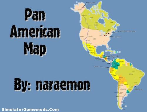 Pan-American-Map