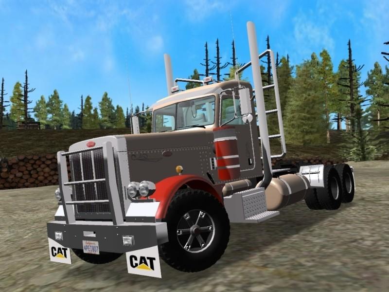 Peterbilt-379-Day-cab-Logger