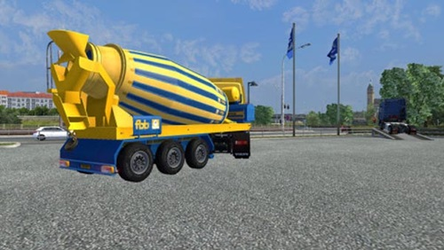 FBB-Concrete-mixer-trailer