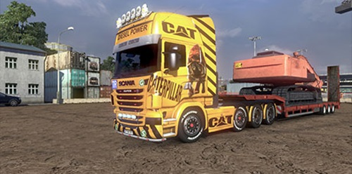 Scania-Caterpiller- Skin-Sgmods
