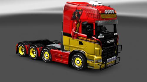 Scania-Spiderwoman-Skin