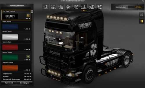 COD Ghosts Scania skin
