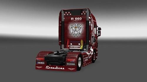 Scania-R-560 Striped-Truck-Skin-1