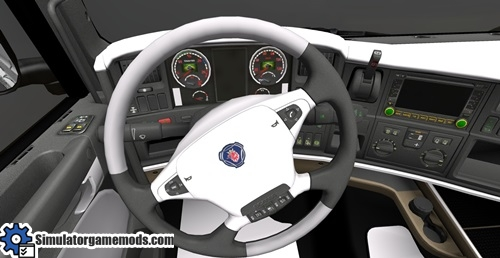 Interior Scania Black & White