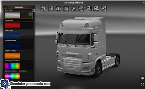 Daf Euro 6 Painted Front Grill Tuning Simulator Games