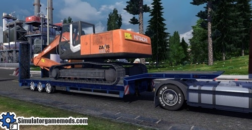 excavator-hitachi-trailer