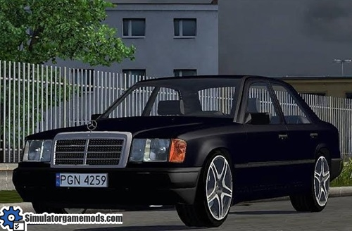 Mercedes benz w124 black car simulator games mods download for 2014 mercedes benz truck