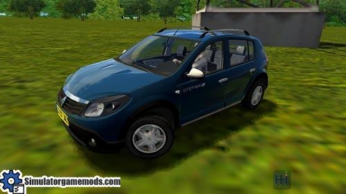 city car driving 1 4 renault sandero stepway car download simulator games mods download. Black Bedroom Furniture Sets. Home Design Ideas