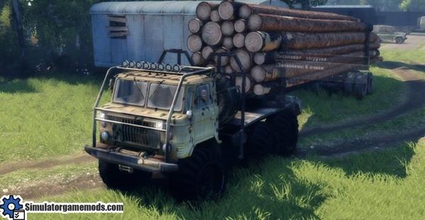 gaz-timber-truck
