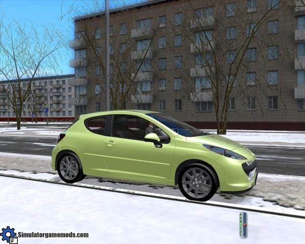 peugeot 207 city car driving 1 2 2 simulator games mods download. Black Bedroom Furniture Sets. Home Design Ideas