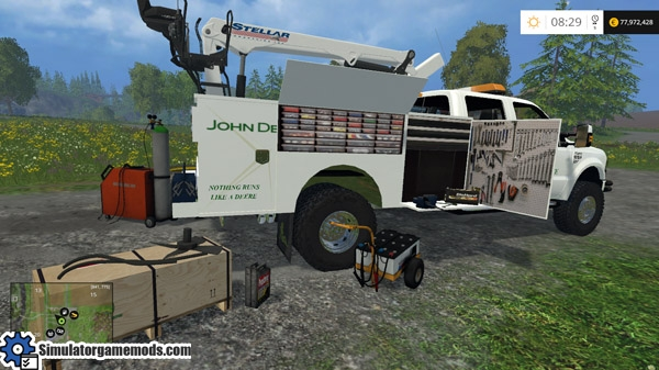 John Deere Race Car >> FS 2015 – Ford Raptor F-350 John Deere Service Truck – Simulator Games Mods Download