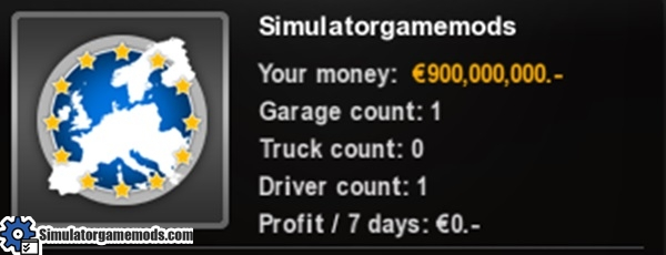 ETS 2 - Money and XP Mod | Simulator Games Mods Download
