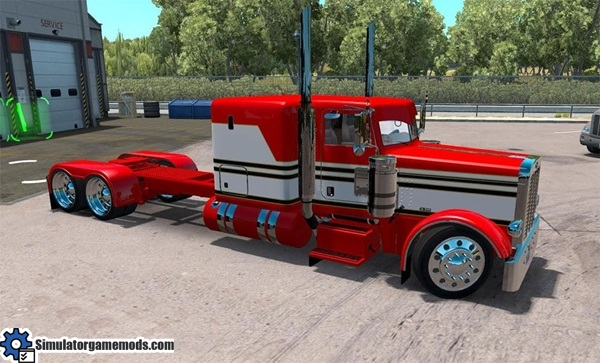peterbilt-389-red-white-skin