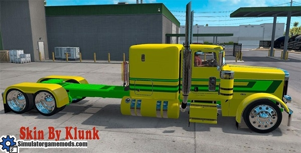 peterbilt-389-yellow-green-skin