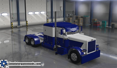 peterbilt_389_blue_white_skin