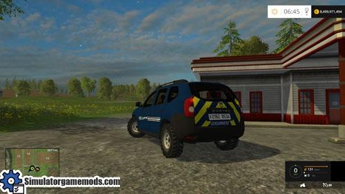 fs 2015 dacia duster gendarmerie car mod simulator games mods download. Black Bedroom Furniture Sets. Home Design Ideas