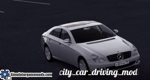 City car driving 1 5 1 mercedes benz cls 500 car mod for Mercedes benz car racing games