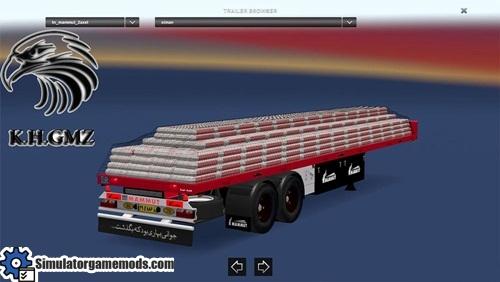 Iranian_mammut_2_axel_flat_trailer