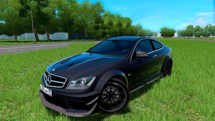 City car driving 1 5 1 mercedes benz c63 amg car mod for Mercedes benz car racing games