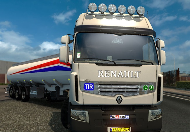 ets 2 renault premium iran tuning pack simulator games mods download. Black Bedroom Furniture Sets. Home Design Ideas