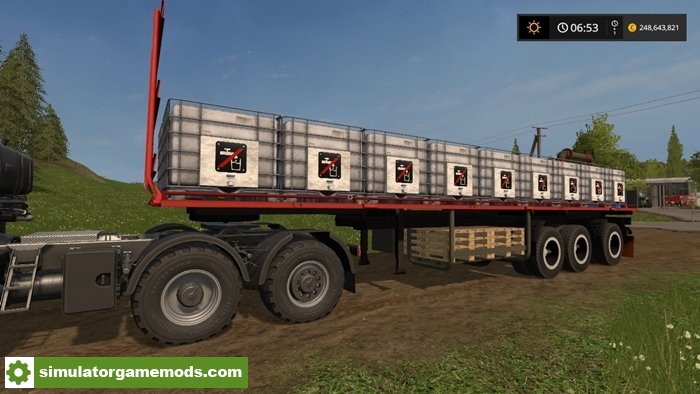 Car Simulator Games >> FS17- TSL Flatbed Water Trailer V 1 – Simulator Games Mods Download