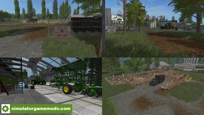 Farming Simulator 17 American Map.Fs17 American Farm Map V 1 Simulator Games Mods Download