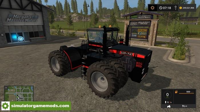 Car Simulator Games >> FS17 – Big Bud 747 Black Tractor Pack V 1.1 – Simulator Games Mods Download