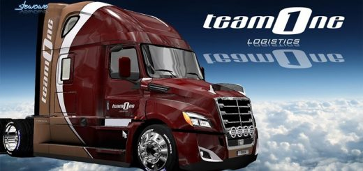 freightliner_cascadia_2018_team_one_logistics_skin