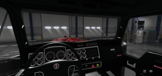 kenworth_w900_black_Interior