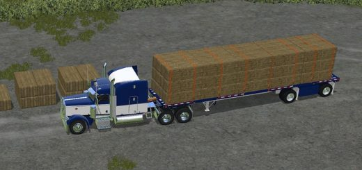 peterbilt_388_manic_flatbed_trailer