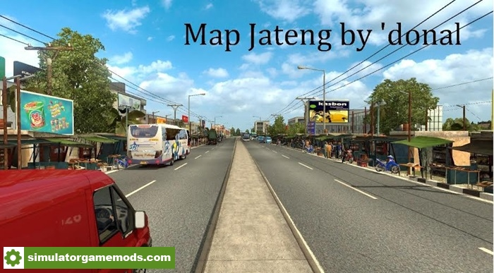 ETS 2 - Jateng Indonesia Map | Simulator Games Mods Download