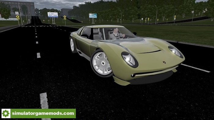 city car driving 1 5 2 lamborghini miura concept car mod simulator games mods download. Black Bedroom Furniture Sets. Home Design Ideas