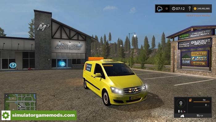 fs17 mercedes viano roadclosing v1 simulator games. Black Bedroom Furniture Sets. Home Design Ideas