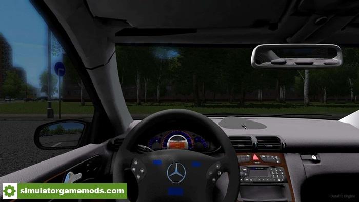 City car driving 1 5 1 mercedes benz c32 amg car mod for Mercedes benz car racing games