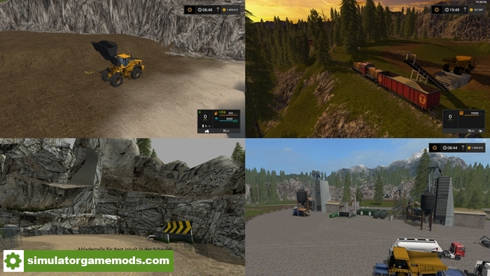 Car Driving Games >> FS17 – Mining Construction Economy Map V0.3 – Simulator Games Mods Download
